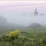 Early in the morning in the historic village of Vvedenye