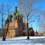 Amazing 15-domed Church of St. John the Baptist in Yaroslavl