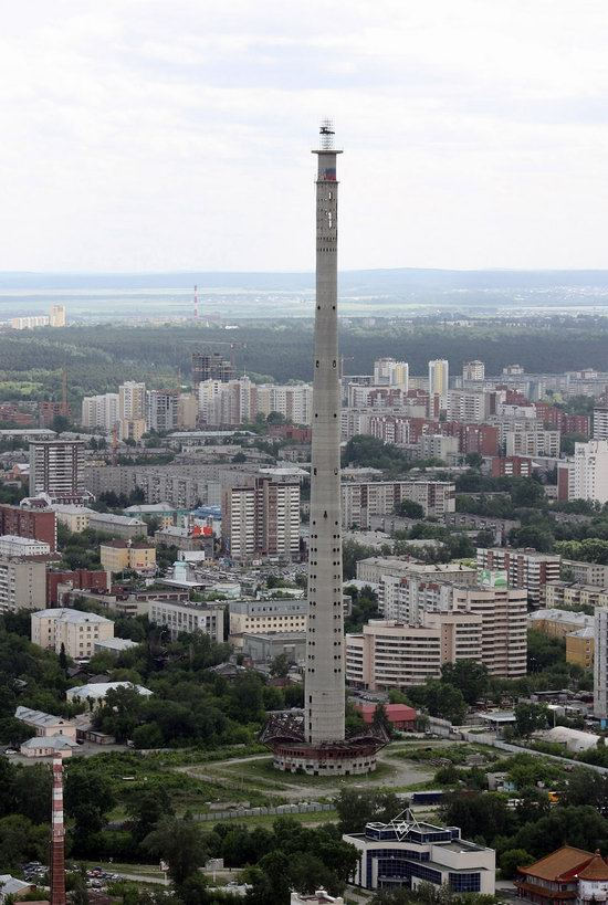 The abandoned TV tower of Ekaterinburg, Russia