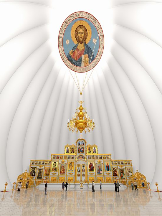The draft concept of St. Catherine Cathedral, Ekaterinburg, Russia, photo 17