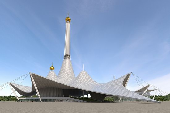 The draft concept of St. Catherine Cathedral, Ekaterinburg, Russia, photo 21