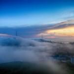 Vladivostok Shrouded in Dense Summer Fog