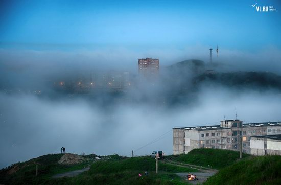 Foggy day in Vladivostok, Russia, photo 4