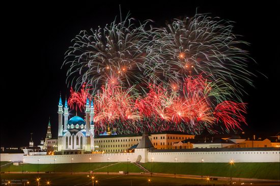Kazan Kremlin, fireworks on the City Day, Russia, photo 11