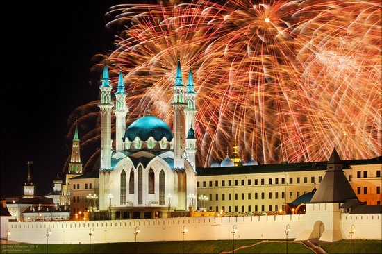 Kazan Kremlin, fireworks on the City Day, Russia, photo 12