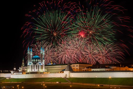 Kazan Kremlin, fireworks on the City Day, Russia, photo 13