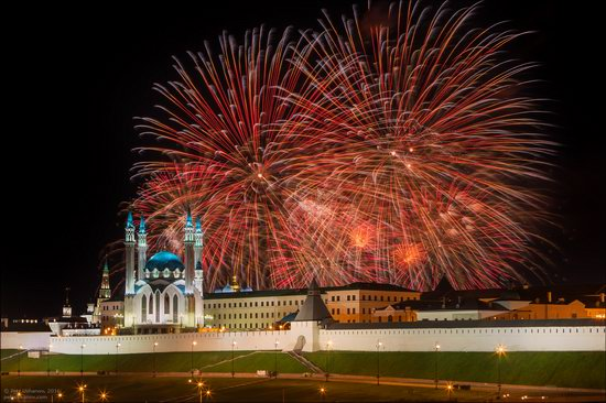 Kazan Kremlin, fireworks on the City Day, Russia, photo 14