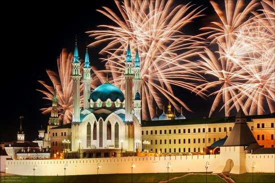 Kazan Kremlin, fireworks on the City Day, Russia, photo 15