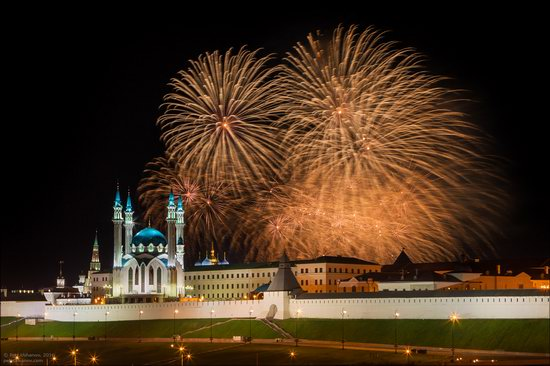 Kazan Kremlin, fireworks on the City Day, Russia, photo 16