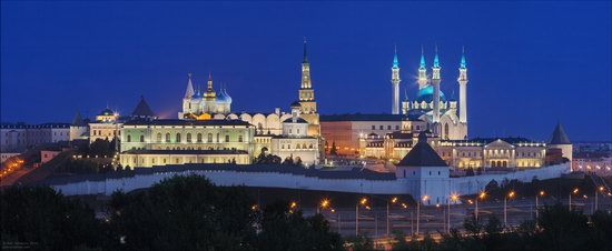 Kazan Kremlin, fireworks on the City Day, Russia, photo 2