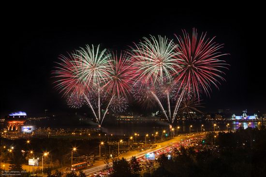 Kazan Kremlin, fireworks on the City Day, Russia, photo 3