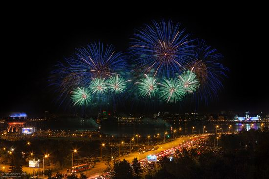 Kazan Kremlin, fireworks on the City Day, Russia, photo 4