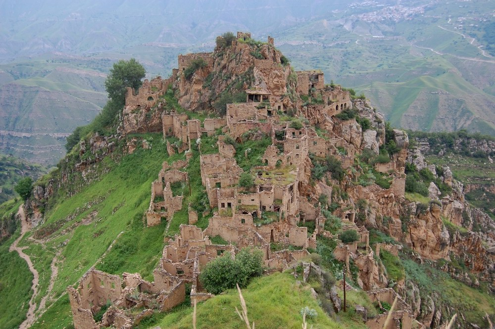 Abandoned ancient village in the mountains of Dagestan · Russia ...