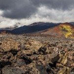 The lava fields and dead forest of Tolbachik