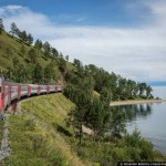 The train ride along the shore of Lake Baikal