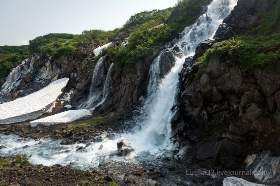 The white waterfalls of the southern Kamchatka, Russia, photo 1