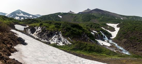 The white waterfalls of the southern Kamchatka, Russia, photo 4