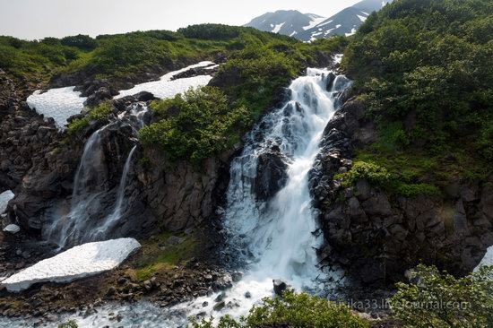 The white waterfalls of the southern Kamchatka, Russia, photo 7