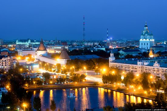 Astrakhan from above, Russia, photo 4