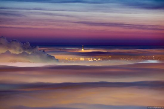 Moscow covered by low clouds, Russia, photo 12
