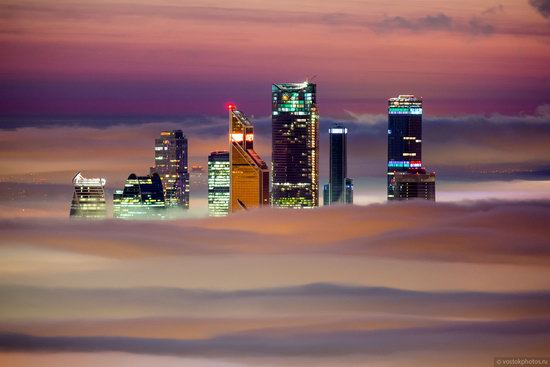 Moscow covered by low clouds, Russia, photo 15