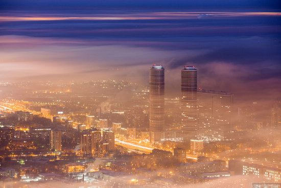 Moscow covered by low clouds, Russia, photo 16