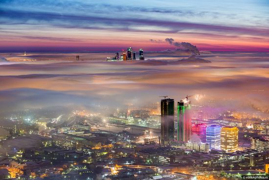 Moscow covered by low clouds, Russia, photo 19