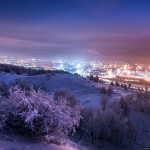 Winter in the arctic Murmansk