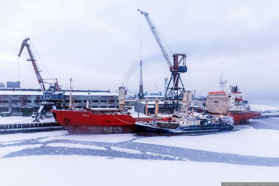 Winter in Murmansk, Russia, photo 24