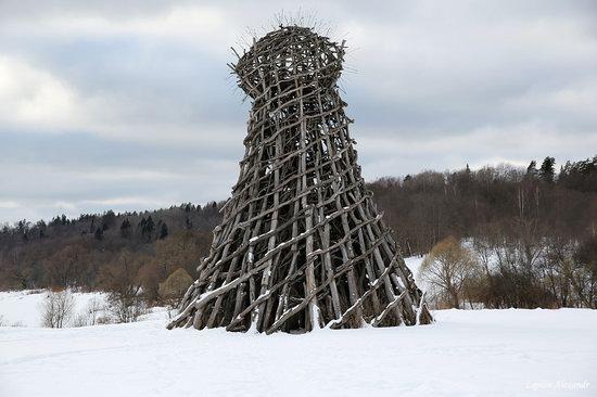 Winter in the Art Park Nikola-Lenivets, Russia, photo 13