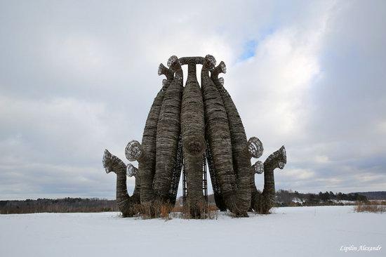 Winter in the Art Park Nikola-Lenivets, Russia, photo 4