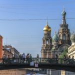 Boat trip along the canals of St. Petersburg