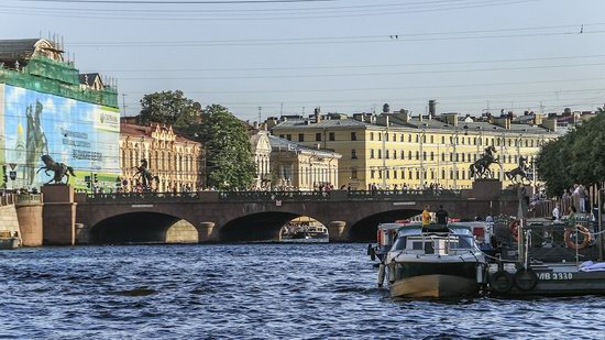 Boat trip along the canals of St. Petersburg, Russia, photo 18