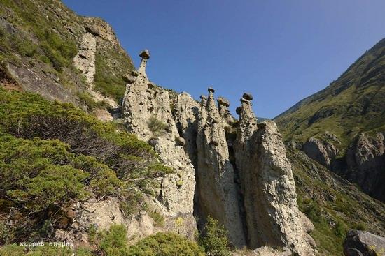Stone mushrooms of Akkurum, Altai Republic, Russia, photo 13