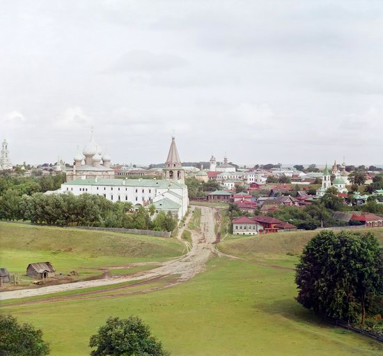 Suzdal, Russia in color in 1912, photo 1