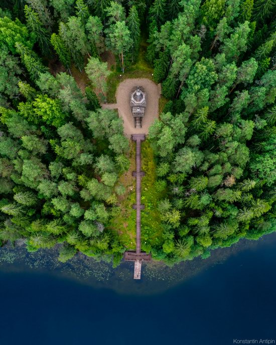 Lake Valdai, Russia - the view from above, photo 11