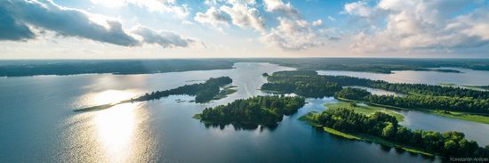 Lake Valdai, Russia - the view from above, photo 2