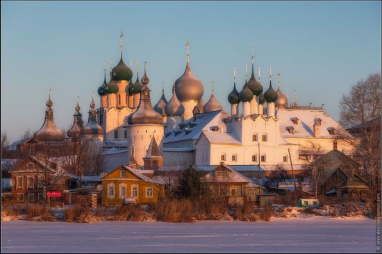Frosty day in the Rostov Kremlin, Russia, photo 14