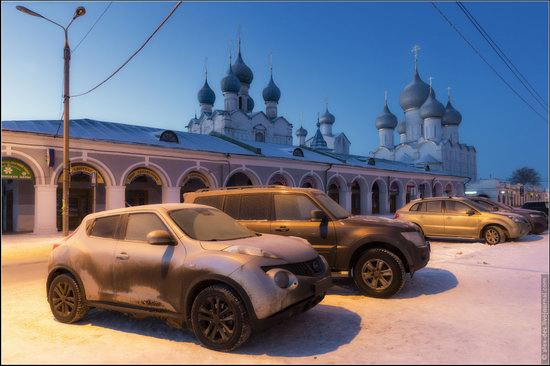 Frosty day in the Rostov Kremlin, Russia, photo 2