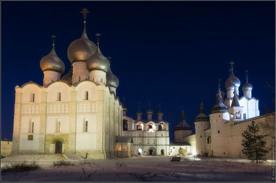 Frosty day in the Rostov Kremlin, Russia, photo 26