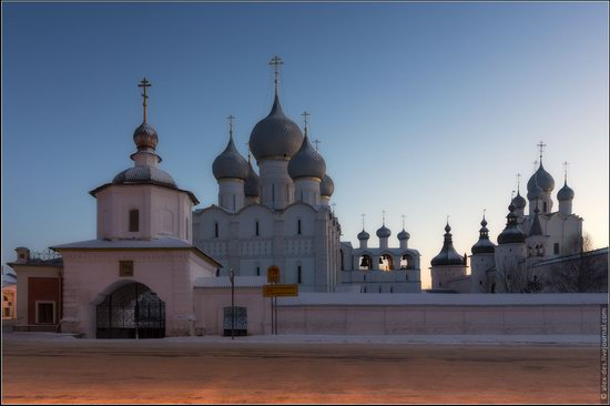 Frosty day in the Rostov Kremlin, Russia, photo 3