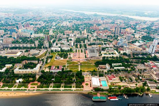 Samara, Russia - the view from above, photo 3