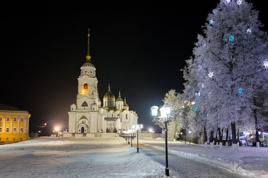 Winter in the center of Vladimir city, Russia, photo 1