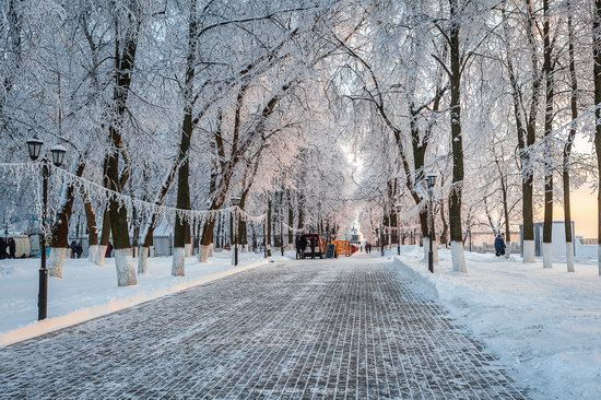 Winter in the center of Vladimir city, Russia, photo 2