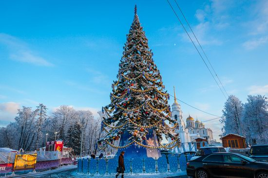 Winter in the center of Vladimir city, Russia, photo 4