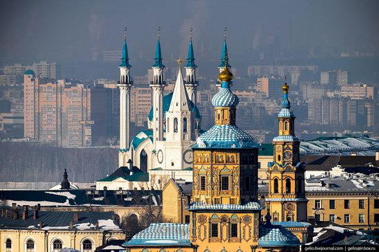 Winter in Kazan, Russia - the view from above, photo 22