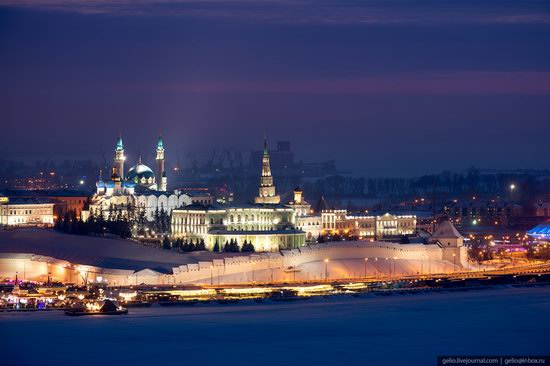Winter in Kazan, Russia - the view from above, photo 3