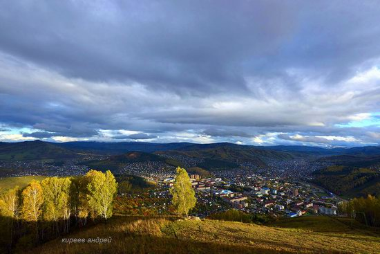 Gorno-Altaysk, Russia - the view from above, photo 1