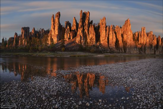 Picturesque Castles of the Sinyaya River in Yakutia, Russia, photo 11