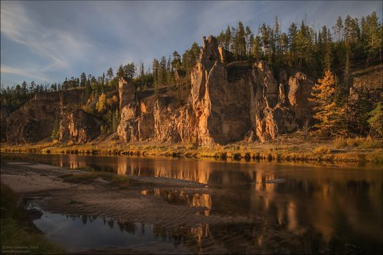 Picturesque Castles of the Sinyaya River in Yakutia, Russia, photo 5